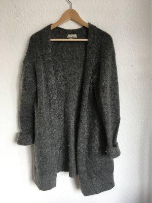 Acne Abrigo de punto gris oscuro