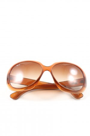 Ray Ban ovale Sonnenbrille hellorange Casual-Look