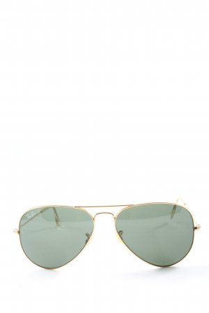 Rayban ovale Sonnenbrille goldfarben-grün Casual-Look