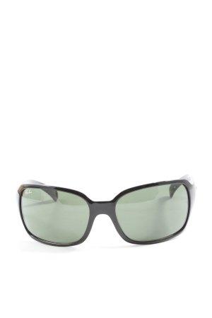Rayban Oval Sunglasses black casual look