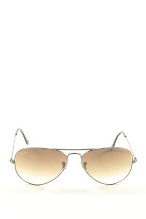 Rayban Aviator Glasses light grey themed print casual look