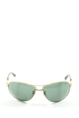 Rayban Gafas de piloto color oro-verde look casual