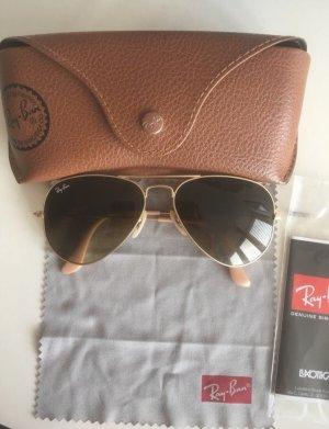 Ray Ban Aviator Glasses gold-colored-bronze-colored