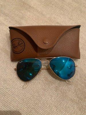 Rayban Pilotenbril blauw