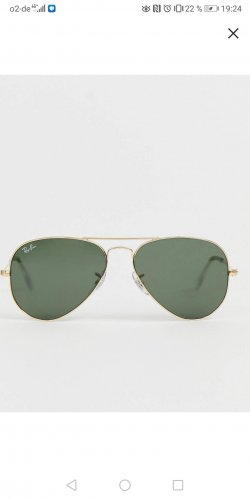 Rayban Glasses gold-colored