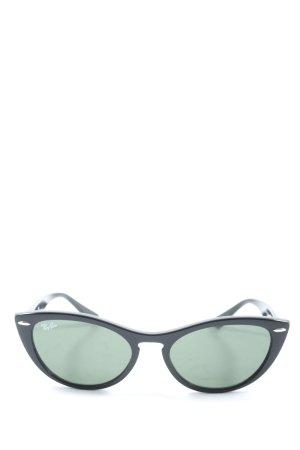 Rayban Retro Glasses black casual look