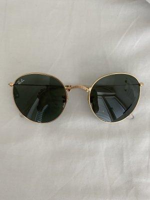 RayBan Round Faltbare Sonnenbrille grün/ gold