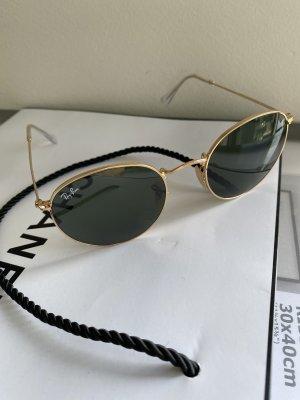 Rayban Okrągłe okulary przeciwsłoneczne złoto-ciemnozielony