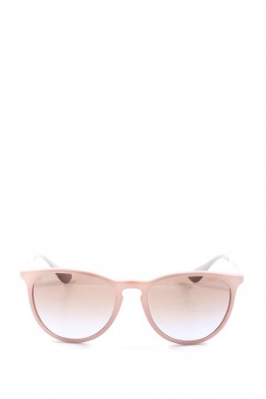 Rayban Round Sunglasses pink-light grey casual look