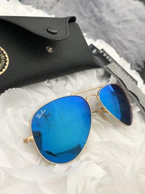 Rayban Sonnenbrille blau Aviator