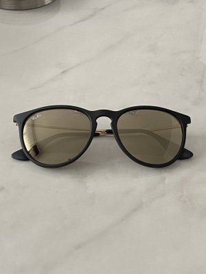 Rayban Oval Sunglasses black-gold-colored