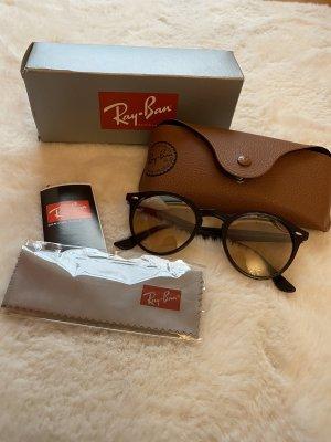 Ray Ban Occhiale da sole rotondo marrone-nero-marrone scuro