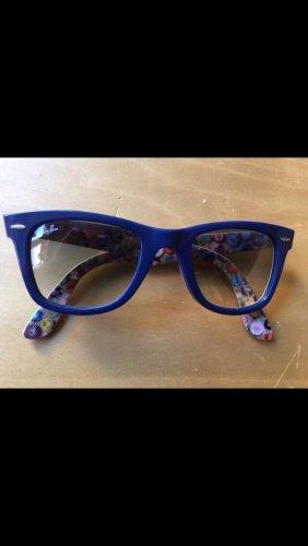 Rayban Angular Shaped Sunglasses dark blue