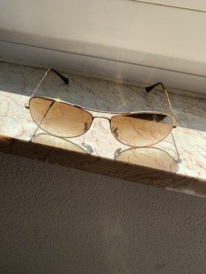 Ray Ban Okulary pilotki beżowy-jasnobrązowy Metal