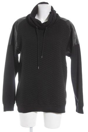 RB7 Sweatshirt schwarz Bänderverzierung