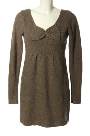 RCC Fashion Lange jumper bruin gestippeld casual uitstraling