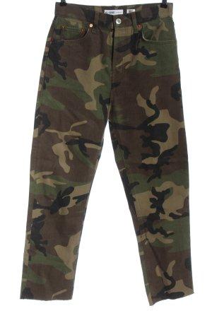 Re/done Levi's Jeans taille haute kaki motif de camouflage style décontracté