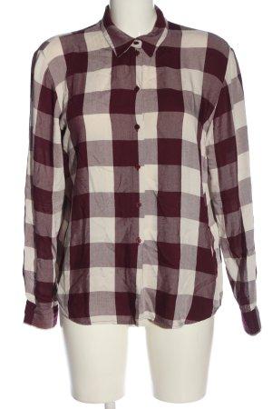 re.draft Camisa de leñador blanco puro-rojo look casual