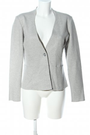 re.draft Woll-Blazer hellgrau meliert Business-Look