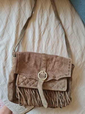 real suede leather bag