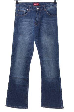 Reality Studio Boot Cut Jeans blau Casual-Look