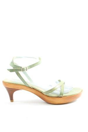 Rebeca Sanver Riemchen-Sandaletten khaki Casual-Look