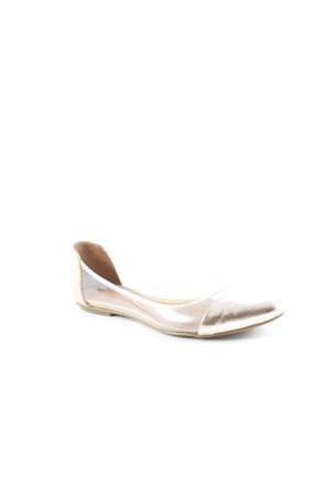 Rebecca Minkoff Ballerinas mit Spitze roségoldfarben-sandbraun