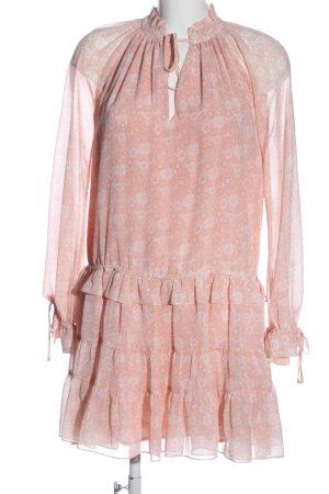 Rebecca Minkoff Abito a maniche lunghe rosa stampa integrale stile casual