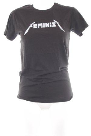 Rebecca Minkoff Longshirt schwarz Schriftzug gedruckt Casual-Look