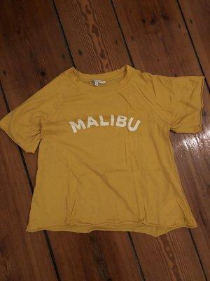 Rebecca Minkoff Malibu Shirt gelbes T-Shirt Gelb Baumwolle Statement Shirt