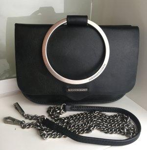 Rebecca Minkoff Minitasje zwart-zilver Leer