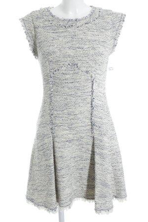 Rebecca taylor Robe fourreau blanc cassé-bleu acier élégant
