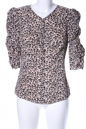 Rebecca taylor Kurzarm-Bluse Allover-Druck Casual-Look
