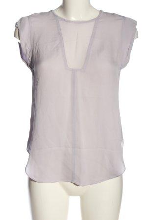 Rebecca taylor Blouse à manches courtes blanc cassé style d'affaires