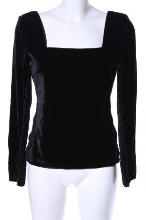 Rebecca taylor Blouse à manches longues noir élégant