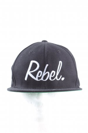 Rebel Berretto da baseball nero-bianco stile casual