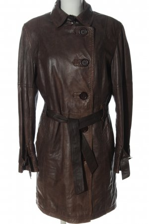 REBEL by RINO&PELLE Leather Coat brown casual look