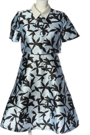 Rebel Collection Kurzarmkleid blau-schwarz abstraktes Muster Casual-Look