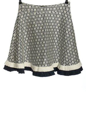 Rebel Collection Rozkloszowana spódnica czarny-w kolorze białej wełny