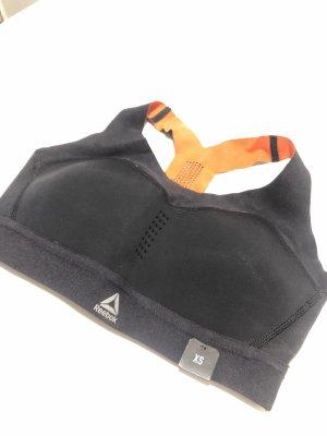 Reebok Canotta sportiva nero-arancione