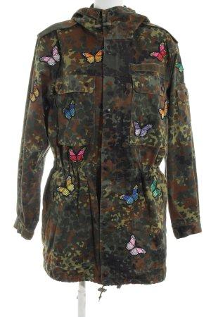 Reclaimed Vintage Militaryjacke khaki-braun Animalmuster Casual-Look