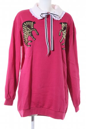 Reclaimed Vintage Pulloverkleid magenta Street-Fashion-Look