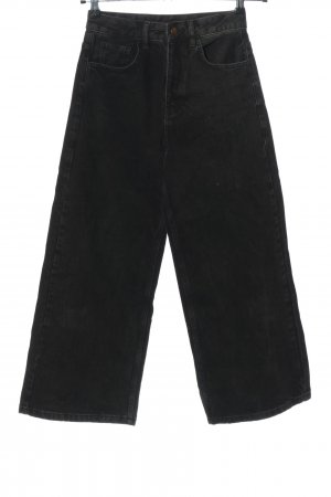 Reclaimed Vintage Straight-Leg Jeans schwarz Streifenmuster Casual-Look