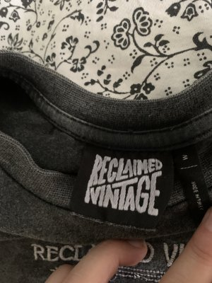 Reclaimed Vintage Cropped Shirt grey-black