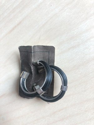 Ear Hoops black-silver-colored