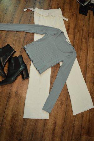 Nakd Cropped Shirt pale blue-azure
