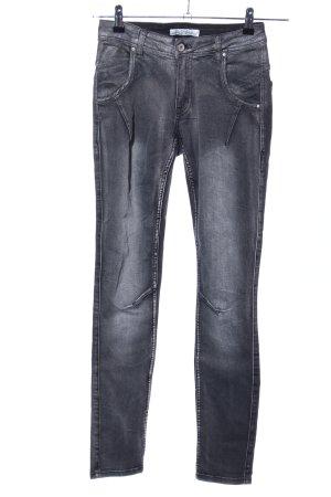 Pantalon strech noir-gris clair style décontracté