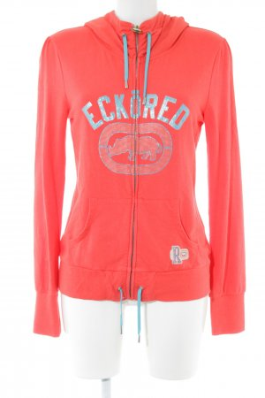 Red by Marc Ecko Kapuzenpullover rot Motivdruck Casual-Look