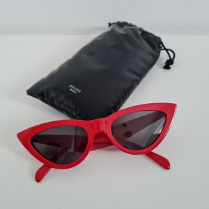 Celine Oval Sunglasses red acetate