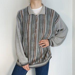 red fox streifen Jacke Cardigan Strickjacke Oversize Pullover Hoodie Pulli Sweater Top True Vintage